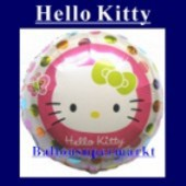 Luftballon Hello Kitty, Folienballon mit Ballongas (FHGE-Hello-Kitty-Luftballon-45-01)