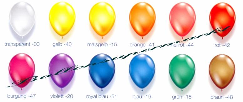 Kristall Farben Luftballons, Serie1
