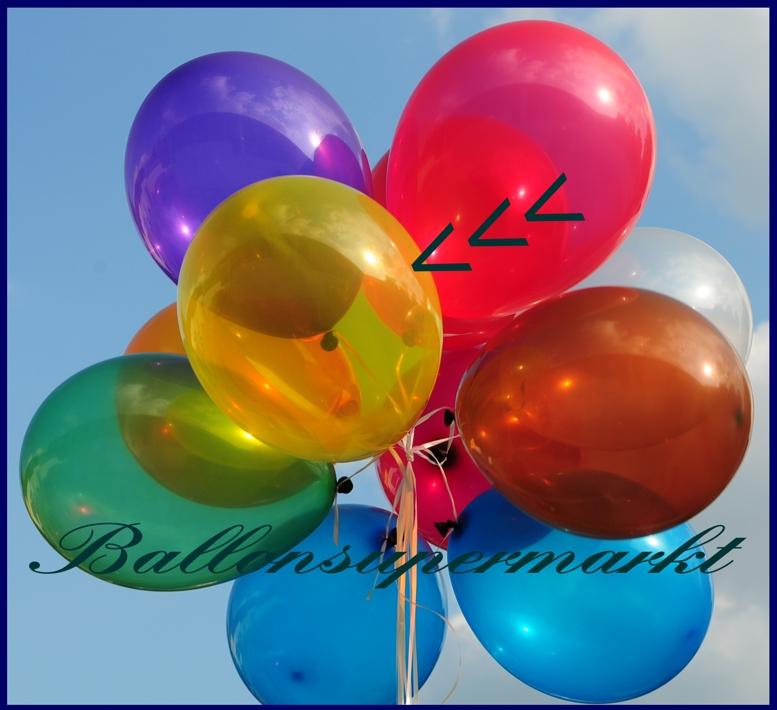 Deko luftballons kristallfarben maisgelb 28 30 cm 25 st ck lu deko luftballons k 1 kristall - Luftballon deko ...