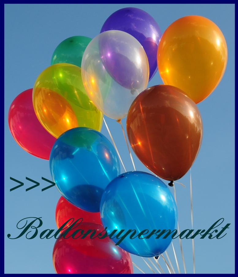 Deko luftballons kristallfarben royal blau 28 30 cm 25 st ck lu deko luftballons k 1 - Luftballon deko ...