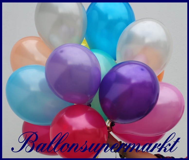 Metallic farben luftballons - Luftballon deko ...