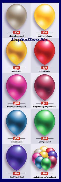 Deko Luftballons, Serie 2, Metallicfarben