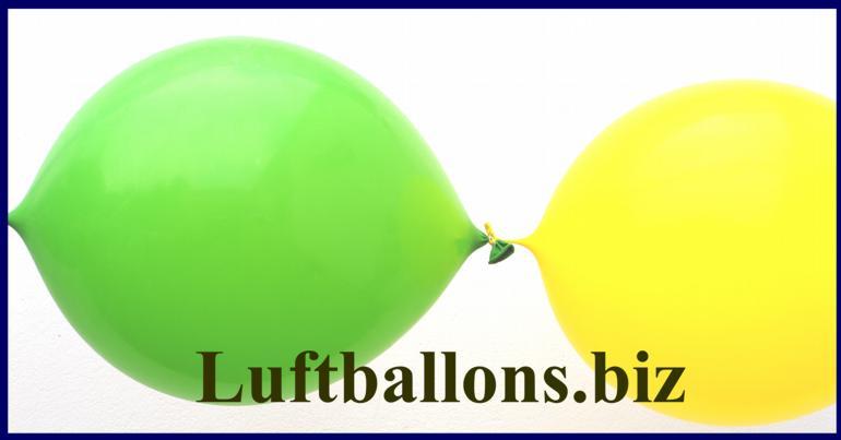 Verbindungs-Luftballons, hier zusammenbinden